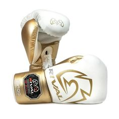 Boxing glove: bag, sparring and fight gloves Lace Gloves, Mens Gloves, Heavy Bag Stand, Blue And Silver, White Gold, Sparring Gloves, Mma Training, Fight Night, Leather Box