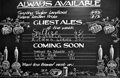 Real Ale Board... love the idea of 'Meet the Brewer' also!
