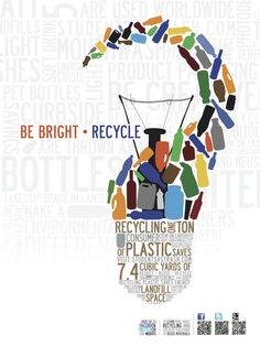 Be Bright - Recycle  Fave poster from @StudentsVsTrash contest.