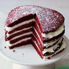 Red Velvet Pancakes Recipe | MyRecipes.com  #simplybespringpin