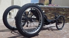 Black Monster Quad: Custom Catrike Cat-4 Quad by UT Custom from Utah Trikes #recumbent #trike #utahtrikes
