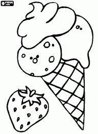 ijsjes Kleurplaat
