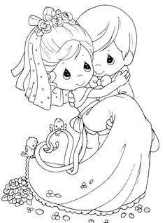 Precious Moments Married Coloring Pages - Precious Moments Coloring Pages : KidsDrawing – Free Coloring Pages Online