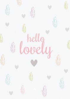 Ansichtkaart | Hello Lovely