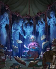 ArtStation - Eparch of Souls - HEX: Shards of Fate, Lucas Torquato Fantasy Wizard, Fantasy Rpg, Medieval Fantasy, Character Concept, Character Art, Concept Art, D D Characters, Fantasy Characters, Fantasy Inspiration