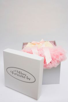 A rich vanilla pettiskirt with soft pink rufflled hem and bow.  Our gorgeous pettiskirts are made up from layer upon layer of soft, flowing, chiffon frills finished off with a satin bow. A treat to wear and once worn will not want to be taken off! An adjustable elasticated waist ensures plenty of wear.  Our pettiskirts arrive in a stylish Miss Francis box for the perfect gift.  CARE INSTRUCTIONS 100% Nylon Chiffon.Hand wash cycle. Do not iron. Continue reading →