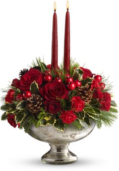 Teleflora's Mercury Glass Bowl Bouquet with my Employee Discount Code TFXMA9XK receive 25% OFF