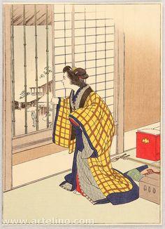Kason Suzuki 1860-1919 - Looking Outside.