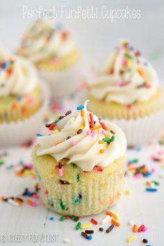 Perfect Funfetti Cupcakes   crazyforcrust.com   These are the PERFECT funfetti cupcakes: soft, sweet, and full of sprinkles!