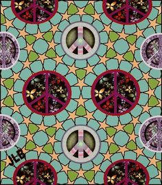 ☮/JLB Hippie Love, Hippie Art, Give Peace A Chance, Peace Signs, Peace And Love, Goodies, Stitch, Patterns, Prints