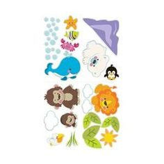 Brewster Home Fashions ST94561 Fisher Price Precious Planet Wall Stickers