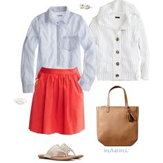 OOTD by maomi on Polyvore featuring J.Crew, Banana Republic, Old Navy and Bounkit