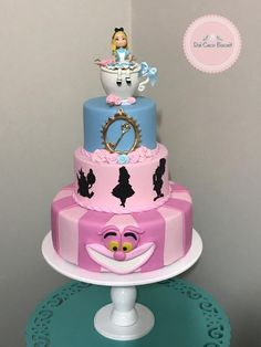 Bolo Da Minnie Mouse, Themed Cakes, Sweet 16, Alice In Wonderland, Biscuits, Pasta, God, Birthday, Makeup
