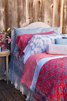 Kerry Cassill - Luxury Indian printed Bedding and Apparel — Blue Peacock Duvet