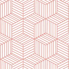 Hawthorne Threads - Isometry - Cubic in Desert Rose Fabric Art, Fabric Crafts, Fabric Design, Pattern Design, Curtain Fabric, Textile Patterns, Quilt Patterns, Sewing Patterns, Geometry Art