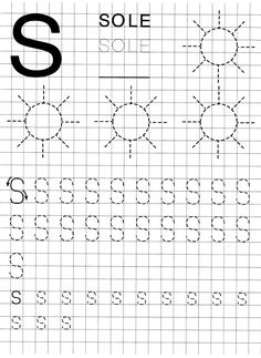 Blog scuola, Schede didattiche scuola dell'infanzia, La maestra Linda, Schede didattiche da scaricare, Letter Tracing Worksheets, Alphabet Tracing, Preschool Worksheets, Preschool Art Projects, Graph Paper Art, Simple Math, Easy Drawings, Hand Lettering, Teaching