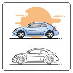 vw beetle turbo 2012 Vw Beetle Turbo, Car Side View, Sidecar, Vw Beetles, Vector Free, Cars, Modern, Collection, Trendy Tree