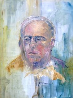 Dad oil on canvas- inspiration Giacometti