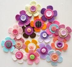paper-and-string. Felt Flowers : Medium
