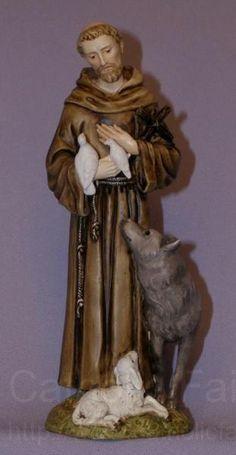 Statue Saint Francis of Assisi St Santo San Francisco de Isis Figure Italy 6 T San Francisco, St Francis Statue, St Francis Assisi, Clare Of Assisi, Patron Saint Of Animals, Virgin Mary Statue, St Clare's, Spiritual Decor, Spiritual Warrior