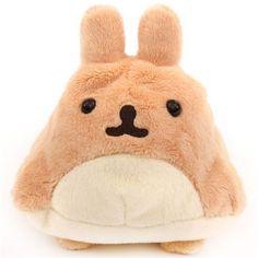 light brown soft Mofutans mochi rabbit plush toy by San-X Japan 1