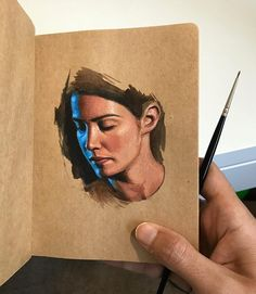 Painting Techniques Sketchbook Gouache Acrylic And Watercolour Paintings On A Sketchbook - Painting Gouache Painting, Painting & Drawing, Watercolor Portraits, Watercolor Paintings, Small Paintings, Art Sketches, Art Drawings, Photographie Portrait Inspiration, Painting Techniques