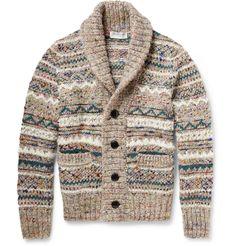 Tomorrowland - Fair Isle Knitted Shawl-Collar Cardigan