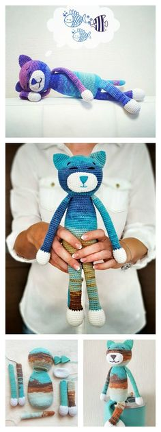 Ist die süß l Katze häkeln l Crochet Large Amineko Cat Free Pattern