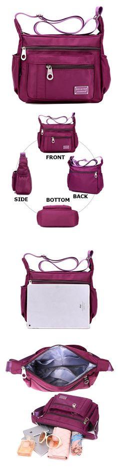 US$15.78 Nylon Waterproof Bags ,Outdoor Sports Lightweight Shoulder Bags,Crossbody Bags For Women