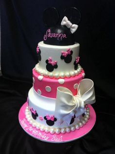 Pix Minnie Mouse Cake topper in 3D photos on Pinterest