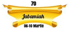 Heraldry of Life: 70.JABAMIAH - DEUS VERBO OMNIA PRODUCENS
