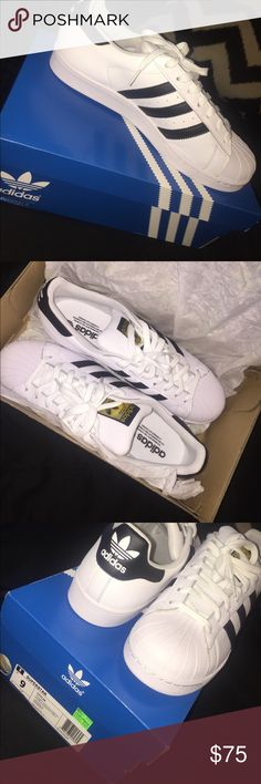 Adidas Superstar NEVER WORN! BRAND NEW, CLEAN, NEVER WORN! Adidas Shoes Sneakers