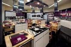 Cooking studio. Modern hoods.