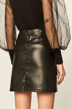 Farmer, Leather Skirt, Skirts, Casual, Products, Fashion, Moda, Leather Skirts, Skirt