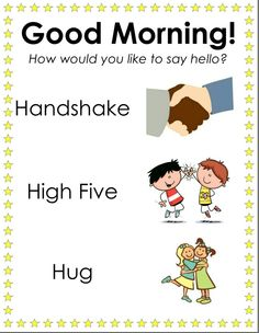 Sign for positive greetings to place outside classrooms First Day Activities, Pre K Activities, School Songs, School Routines, Classroom Behavior, Classroom Rules, Beginning Of The School Year, First Day Of School, Preschool Charts