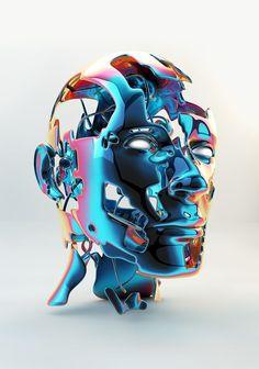 Metallic Faces by Anthony Gargasz