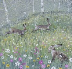 Lucy Grossmith ~ Hares | Heart To Art