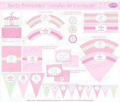 Kids&Babies: Party Printables :: Cavalos de Carrossel Party Printables, Carousel Party, Bottle, Carousel Horses, Cape Clothing, Invitation Birthday, Sharpies, Paper Envelopes