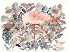"Michelle Morin- ""Flamingo and Coastal Angelica"""