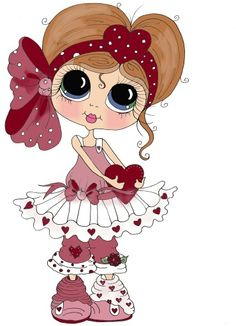 """Photo from album """"Sweet Girl /Милая девочка"""" on Yandex. Holly Hobbie, Cute Images, Cute Pictures, Colouring Pages, Coloring Books, Art Mignon, Eye Art, Cute Dolls, Cute Illustration"""