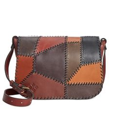 Patricia Nash Patchwork Positano Square Saddle Bag