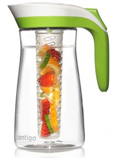 Perfect for outdoor entertaining or a day at the beach, the 72-ounce AUTOSEAL Pitcher Set (about $30 at Contigo) automatically seals itself after you use it, so even if it falls over, it won't spill—and also keeps bugs out. The BPA-free pitcher also comes with an ice core and an infuser stick.
