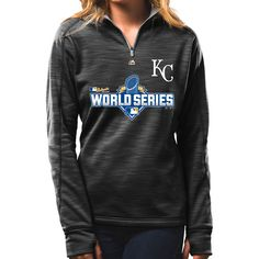 Kansas City Royals Women's 2015 Authentic Collection World Series Participant 1/4 Zip by Majestic Athletic