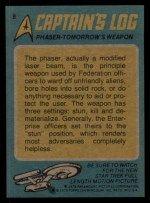 1976 Topps Star Trek #8  The Phaser Tomorrow's Weapon  Back Thumbnail
