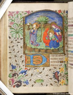 Book of Hours, MS M.84 fol. 37v - Images from Medieval and Renaissance Manuscripts - The Morgan Library & Museum