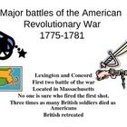 This powerpoints takes students through the major battles of the American Revoluntionary War, from the Battle of Bunker Hill, to Yorktown.  Also de...