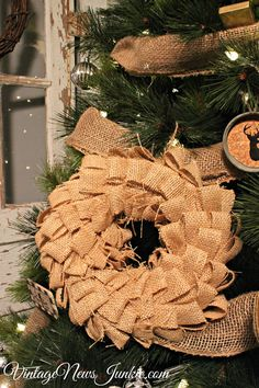 DIY Burlap Christmas Ornament