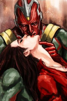 Vison and wanda. i'm finally fully on board with this ship ❤ Marvel Dc Comics, Marvel Avengers, Marvel Women, Marvel Art, Wanda And Vision, Comics Universe, Scarlet Witch, Marvel Characters, Marvel Movies