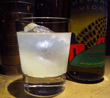 Otra Palabra (The Other Word)  1/4 oz. Agave nectar  1 oz. Organic Fresh Lime juice  2 oz. Del Maguey Vida  1/4 oz. Yellow Chartreuse  bar spoon Luxardo Maraschino.