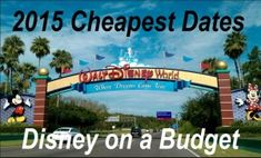 Planning a 2015 Disney World trip? Know the cheapest dates to travel to Walt Disney World so you can plan your Disney vacation on a tight budget! Everything you need to know!